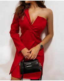 Елегантна рокля в червено - код 7128