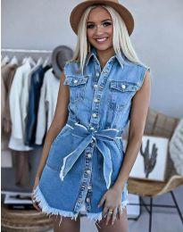 Дънкова рокля в синьо - код 3699