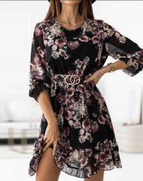 Дамска рокля с флорален десен - код 0946 - 3