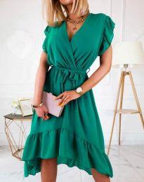 Елегантна дамска рокля в зелено - код 8934