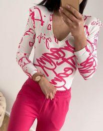 Дамска блуза с атрактивен десен - код 11633 - 11