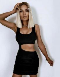 Атрактивна дамска рокля в черно - код 12001