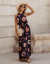 Дълга рокля с атрактивен десен - код 2964 - 3