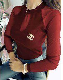 Елегантна дамска блуза в бордо - код 1588