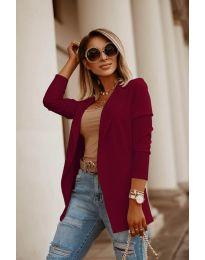 Дамско сако в цвят бордо - код 2900