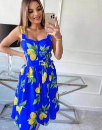 Атрактивна рокля в синьо - код 8840