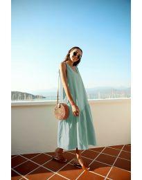 Свободна изчистена рокля в цвят мента - код 8810