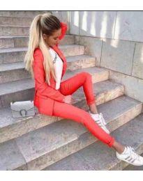 Дамски стилен комплект в червено - код 099