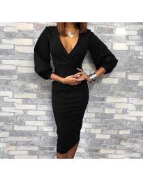 Елегантна рокля в черно - код 8706