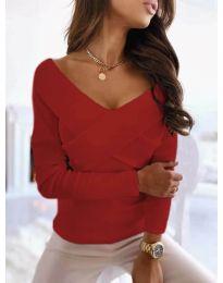 Екстравагантна дамска блуза в червено - код 0308