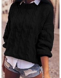 Дамски пуловер в черно  - код 8780
