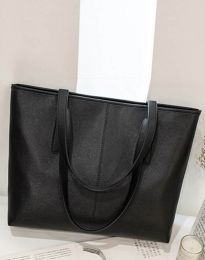 Изчистена дамска чанта в черно - код B272