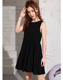 Свободна изчистена рокля в черно  - код 4471