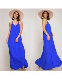 Свободна дълга рокля в тъмно синьо - код 0508