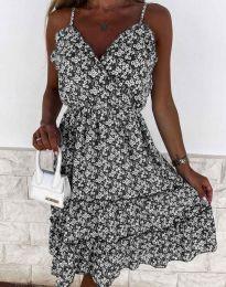 Атрактивна рокля на цветя - 3265 - 2