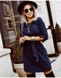 Дамска рокля в  тъмно синьо - код 6100