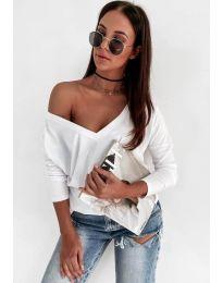 Дамска блуза в бяло - код 3478