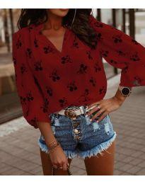 Дамска блуза в бордо - код 1619