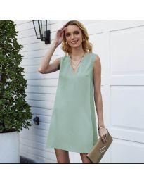 Свободна изчистена рокля в светло зелено - код 1429