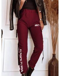Дамски панталон в бордо - код 1142