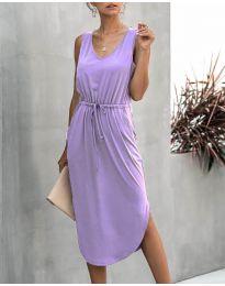 Свободна дамска рокля в лилаво - код 681