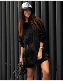 Дамска рокля в черно - код 4547
