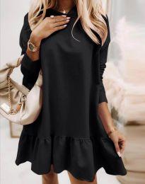 Свободна дамска рокля в черно - код 9376