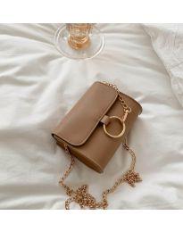 Дамска чанта в цвят капучино - код B45