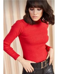 Изчистена дамска блуза в червено - код 11499