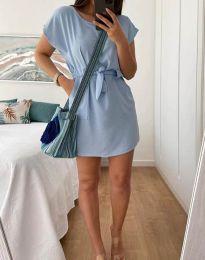 Дамска рокля в светлосиньо - код 2258