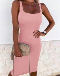 Елегантна рокля в бледорозово - код 8899