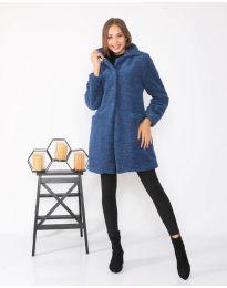 Дамско палто в синьо - код 1615