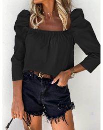 Дамска блуза в черно - код 9906