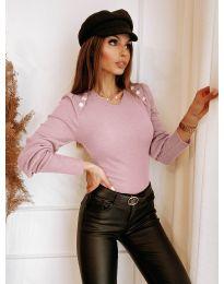 Дамска блуза в розово - код 3111
