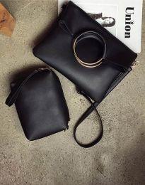 Дамска чанта от две части в черно - код B292
