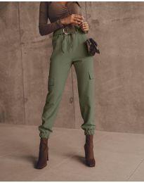 Елегантен панталон в масленозелено - код 2985