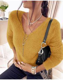 Дамска блуза в цвят горчица - код 8051