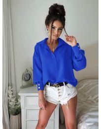 Елегантна риза в тъмно синьо - 9898