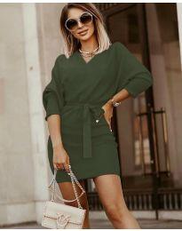 Дамска рокля в зелено - код 9876