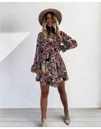 Дамска рокля с атрактивни мотиви - код 248 - 2