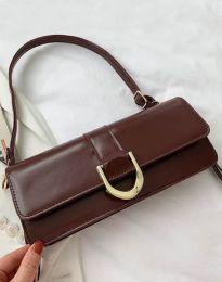 Дамска чанта в тъмнокафяво - код B442