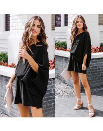 Ефирна дамска рокля в черно - код 9933