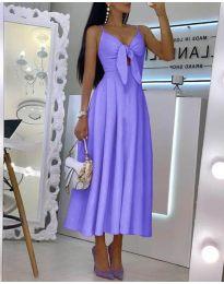 Дълга дамска рокля в лилаво - код 2239