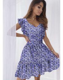 Свободна рокля в лилаво - код 6088