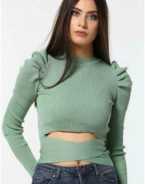 Дамска блуза в зелено - код 4519
