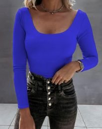 Екстравагантна дамска блуза в синьо - код 4833