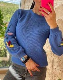 Дамска пуловер в синьо - код 4907
