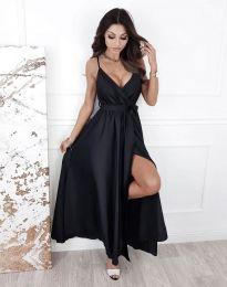 Дълга рокля в черно - код 2651