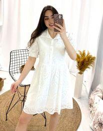 Свободна дамска рокля в бяло - код 0517