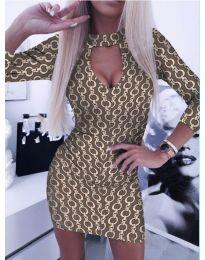 Елегантна рокля с ефектен десен - код 271 - 3
